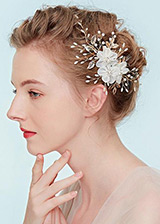 In Stock Fabulous Wedding Hair Ornament With Imitation Pearls & Rhinestones