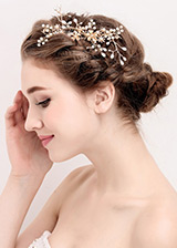 In Stock Newest Alloy Wedding Hair Jewelry With Rhinestones