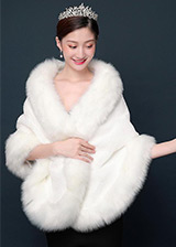 In Stock Gorgeous Faux Fur Wedding Shawl