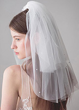 In Stock Marvelous Wedding Veil With Rhinestones